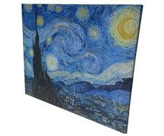 Niik Quadro + Telaio Bordo Colorato Notte Stellata di Vincent Van Gogh, 80 x 65 x 1.7 cm, Falso dAutore
