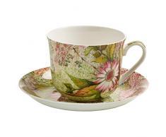 Maxwell & Williams Kilburn Tazza per la Colazione, con Piattino, Tazza per il Caffè e il Tè, Daydream, Porcellana, WK04300