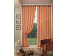 Home Collection Boucle Tenda, Poliestere, Arancio, 140x290 cm