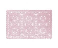 NUANCES DU MONDE Dentelia Tovaglietta in PVC, motivo: Rose, colore: rosa, 30 x 45 cm