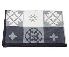 David Fussenegger 15479850Capri Coperta kachel Patch, Cotone di Alta qualità , Antracite, 200x 150x 200cm