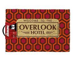 The Shining Overlook hotel con licenza ufficiale zerbino, fibra di cocco, rosso, 60Â x 40Â x 1.5Â cm