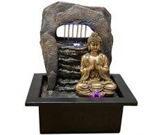 Zen&Light SC 1707 Buddha Zen Dao - Fontana, resina 21 x 17 x 25 cm, bronzo, 1 pz.