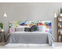 Oedim Testiera per Letto in PVC con Stampa Digitale | Città Colorata 115 x 60 cm | Testiera Originale ed Economica