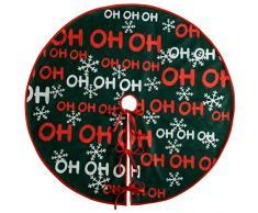 WeRChristmas-Albero di Natale gonna decorazione Ho Ho Ho, Tessuto, Multicolore, 105cm, grande