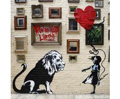 Tela con Stampa delliconico Follow Your Dreams/Cancelled di Banksy, su Un Telaio in Alluminio Probar, Alluminio, Coloured, 16 x 16 inch