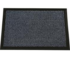 ID Opaco 8012010Â Cahors/Florac Tappeto Zerbino Fibra Polipropilene/PVC 120Â x 80Â x 0,67Â cm, Blu, 80 x 120 cm