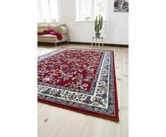 andiamo Klassicher Orientteppich Perserteppich Orientalisches Muster Webteppich Kurzflor Tappeto, Polipropilene, Rot, 160 x 230 cm
