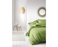 TODAY Copripiumino Matrimoniale in Cotone, 240 x 220 cm, Colore Verde Bambu, bambù, 240 x 220