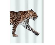 Spirella 10.16405 - Tenda per Doccia in Tessuto con Leopardo, 180 x 200 cm, Colore: Beige/Nero