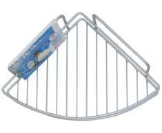 Metaltex - Scaffale angolare a 1 ripiano, per bagno, della gamma Reflex, con rivestimento in Polytherm