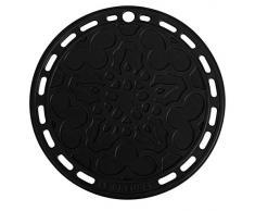 Le Creuset Sottopentola, Presina in Silicone con Occhiello, Rotondo Tradizionale, Silicone, Nero, Diametro: 20 cm