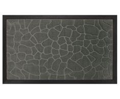 """Deco Tapis Zerbino, motivo """"Ciottoli"""", in polipropilene e caucciù, 75 x 45 cm grigio"""