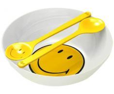 ZAK Designs 6187-M912 Smiley, Ciotola con Posate per Insalata, 28 cm