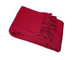 Nuances Du Monde - 3006698, Copridivano , 180 X 220 Cm , Lana , Cotone Tessuto , Rosso