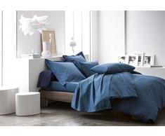 TODAY 201510 Lenzuolo, in Cotone, 180 x 290cm, Colore: Blu Scuro