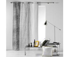 Cotone di Interieur textilio Tenda a occhielli 140 x 240 cm Cotone Stampa textilio Grigio cotone 240 x 140 cm
