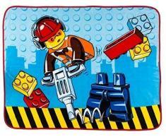 Character World, Coperta in Pile con Stampa delle Costruzioni Lego City