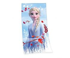 Herding Disneys Frozen 2 Telo Mare, Cotton, Blu, 75 x 150 cm