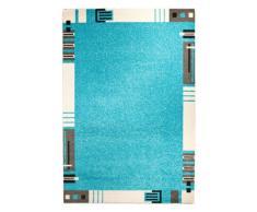 Andiamo 1100319 - Tappeto Le Havre con bordo decorato, 120 x 170 cm, colore: turchese