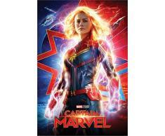 Marvel Poster Captain, Higher, Further, Faster