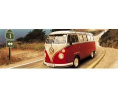 1art1 51173 Poster da Porta VW Californian Camper, Route One 158x53 cm