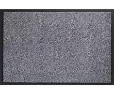 ID MAT 608005 Mirande - Tappeto zerbino in Fibre Nylon e PVC, gommato 80Â x 60Â x 0,9Â cm, Grigio, 60 x 80 cm
