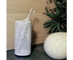 Emporium Calicot Portaombrelli in Policarbonato Con Texture, Bianco