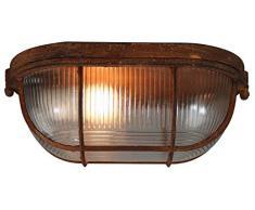 Brilliant Bobbi - Lampada da parete 28 cm, effetto ruggine, stile industriale, 1 x E27, adatta per lampade normali fino a max. 40 W.