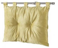 Homea - Testiera letto in velluto unito mod. Romantic, poliestere 50 x 68 cm, Poliestere, menta, 68x12x50 cm