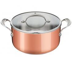 Tefal Jamie Oliver E49046 - Pentola Triply Copper in acciaio INOX, alluminio, rame