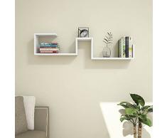 Homemania Mensola Maze, Legno, Bianco, 116,4x20x30 cm