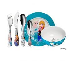 WMF 1286009964 Set di posate per bambini Frozen, 6 pezzi Acciaio Inox Cromargan® 18/10 lucidato a partire da 3 anni in su, Trasparente, 40 x 25 x 10 cm