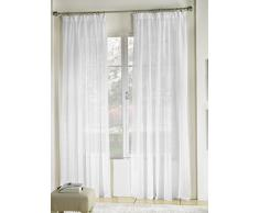 RIOMA Breeze Tenda Voile, Tessuto, Bianco, 400Â x 0.5Â x 270Â cm