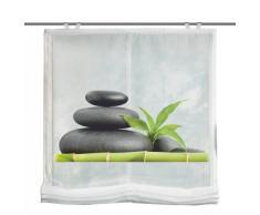 Home fashion 69898-768 Carozo - Tenda a Pacchetto in Voile con Stampa Digitale e Accessori per Il Montaggio, Ganci Inclusi, 140 x 60 cm, Colore: Verde