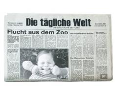 TP Present Time Tovaglietta a forma di quotidiano tedesco con portafoto