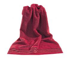 Vossen Cult Deluxe - Asciugamani, colore: Rosso rubino tinta unita 50 cm x 100 cm rosso