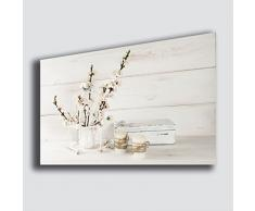 Quadro moderno SHABBY CHIC 30x50 cm vintage camera da letto Fiori Lavanda Candela - Quadri Moderni Arte Cucina Soggiorno Salotto Bagno