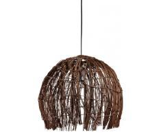 Naeve Leuchten - Lampadario a sospensioneHarar in rattan, 1 lampadina E27 non inclusa, max. 60 W/ECO 11 W, Ø 37cm, altezza: 35 cm, vari colori moderno braun-schwarz