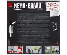 Brio 34557 Memo Board Lavagna Magnetica Pietra Nera 40 x 40 cm vetro nero 4 X 40 X 40 cm
