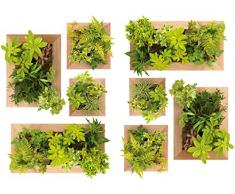 PLAGE 157132 Adesivi murali - stickers-giardino verticale, 2 Fogli, 29,7 x 21 cm