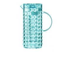 Guzzini Tiffany Caraffa C/Bulbo Infusore 18,5 x 11,5 x H 25,5 cm, Blu