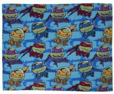 Tmnt Ninja Turtles - Coperta in pile soggetto Mutant Ninja Turtles