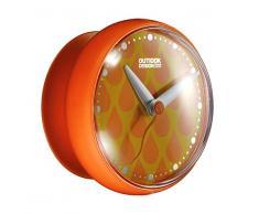 Outlook Design Italia Outlook Design DOODO Parete con Ventosa, per Superfici Lisce, Orologio da Doccia Impermeabile, Arancio, ABS, 12 x 9 cm