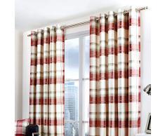 Federa Fusion – Balmoral Check, Tessuto, Ruby, Curtains: 90 Width x 72 Drop (228 x 183cm)