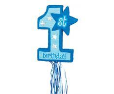 Amscan - Decorazione per feste1° Compleanno, colore: Blu