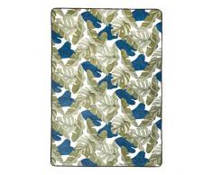AmazonBasics, Tappetino in schiuma, con stampa, motivo foglie - 140 x 200 cm