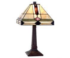 la Casa di Tiffany 5ll-8830 Lampada da Tavolo, Beige