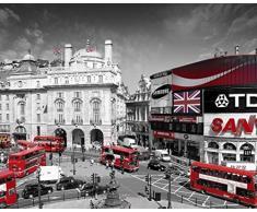 GB Eye-Stampa con Cornice, 40 x 50 cm, Motivo Piccadilly Circus, Motivo Mini di Londra, Poster