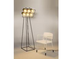 Seletti Lampada In Metallo Da Terra Con 6 Lampade Multilamp Cm.53X51 H.180-Nera